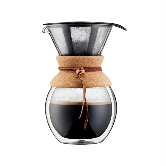 Bodum Pour Over 8 Cup Double Wall ve Metal Filtre