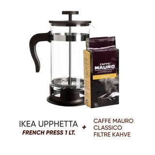 IKEA Upphetta French Press (Caffe Mauro Classico Hediyeli)